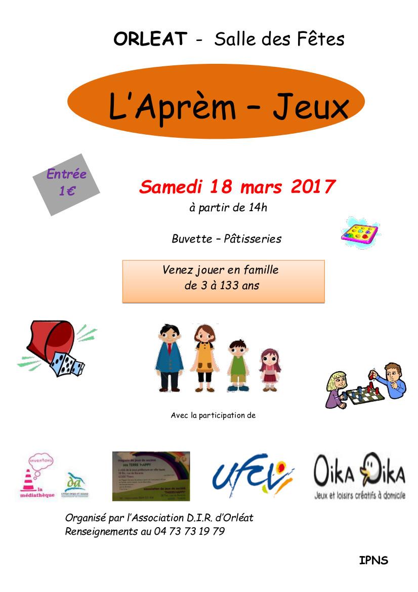 Aprs Midi Jeux Orlat Le 18 Mars